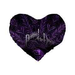 Panic At The Disco Standard 16  Premium Heart Shape Cushions by Onesevenart