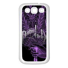 Panic At The Disco Samsung Galaxy S3 Back Case (white) by Onesevenart
