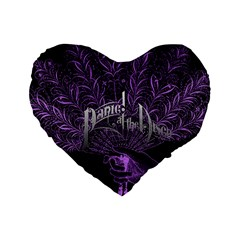 Panic At The Disco Standard 16  Premium Flano Heart Shape Cushions by Onesevenart
