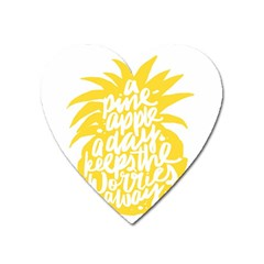 Cute Pineapple Yellow Fruite Heart Magnet by Mariart