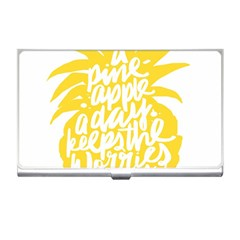 Cute Pineapple Yellow Fruite Business Card Holders by Mariart