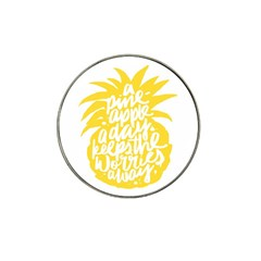 Cute Pineapple Yellow Fruite Hat Clip Ball Marker (10 Pack) by Mariart