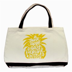 Cute Pineapple Yellow Fruite Basic Tote Bag by Mariart