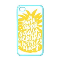 Cute Pineapple Yellow Fruite Apple Iphone 4 Case (color) by Mariart
