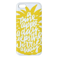 Cute Pineapple Yellow Fruite Apple Iphone 5 Premium Hardshell Case by Mariart