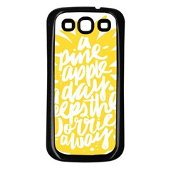Cute Pineapple Yellow Fruite Samsung Galaxy S3 Back Case (black) by Mariart