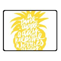 Cute Pineapple Yellow Fruite Double Sided Fleece Blanket (small)