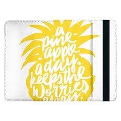 Cute Pineapple Yellow Fruite Samsung Galaxy Tab Pro 12 2  Flip Case by Mariart