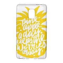 Cute Pineapple Yellow Fruite Galaxy Note Edge by Mariart