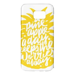 Cute Pineapple Yellow Fruite Samsung Galaxy S7 Edge Hardshell Case by Mariart