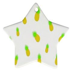 Cute Pineapple Fruite Yellow Green Star Ornament (two Sides)