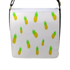 Cute Pineapple Fruite Yellow Green Flap Messenger Bag (l)  by Mariart