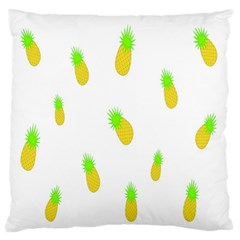 Cute Pineapple Fruite Yellow Green Standard Flano Cushion Case (one Side) by Mariart
