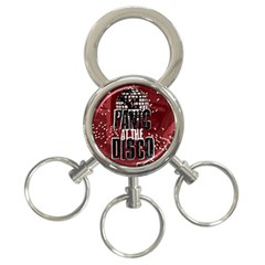 Panic At The Disco Poster 3 Ring Key Chains by Onesevenart