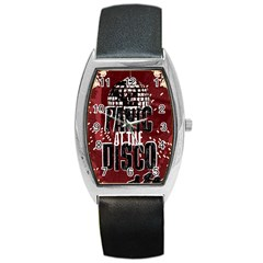 Panic At The Disco Poster Barrel Style Metal Watch by Onesevenart