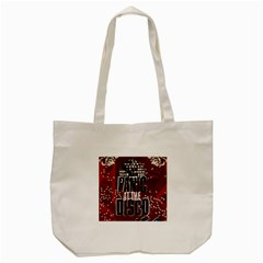 Panic At The Disco Poster Tote Bag (cream) by Onesevenart