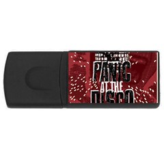 Panic At The Disco Poster Rectangular Usb Flash Drive by Onesevenart