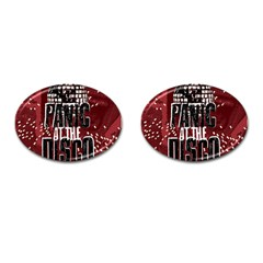 Panic At The Disco Poster Cufflinks (oval) by Onesevenart