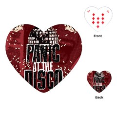 Panic At The Disco Poster Playing Cards (heart)  by Onesevenart