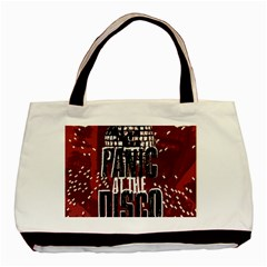 Panic At The Disco Poster Basic Tote Bag by Onesevenart