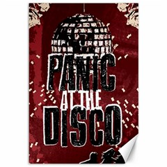 Panic At The Disco Poster Canvas 12  X 18   by Onesevenart