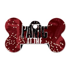 Panic At The Disco Poster Dog Tag Bone (one Side) by Onesevenart