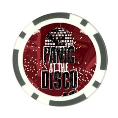 Panic At The Disco Poster Poker Chip Card Guard by Onesevenart