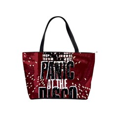 Panic At The Disco Poster Shoulder Handbags by Onesevenart