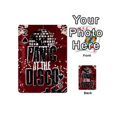 Panic At The Disco Poster Playing Cards 54 (mini)  by Onesevenart