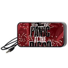 Panic At The Disco Poster Portable Speaker (black) by Onesevenart