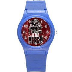 Panic At The Disco Poster Round Plastic Sport Watch (s) by Onesevenart