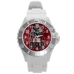 Panic At The Disco Poster Round Plastic Sport Watch (l) by Onesevenart
