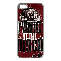 Panic At The Disco Poster Apple Iphone 5 Case (silver) by Onesevenart