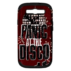 Panic At The Disco Poster Samsung Galaxy S Iii Hardshell Case (pc+silicone) by Onesevenart