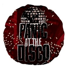 Panic At The Disco Poster Large 18  Premium Round Cushions by Onesevenart