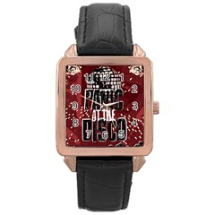 Panic At The Disco Poster Rose Gold Leather Watch  by Onesevenart