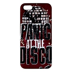 Panic At The Disco Poster Apple Iphone 5 Premium Hardshell Case by Onesevenart