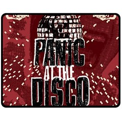 Panic At The Disco Poster Double Sided Fleece Blanket (medium)  by Onesevenart