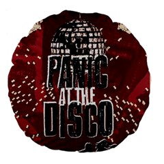 Panic At The Disco Poster Large 18  Premium Flano Round Cushions by Onesevenart