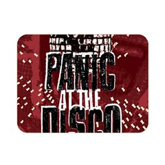 Panic At The Disco Poster Double Sided Flano Blanket (mini)  by Onesevenart