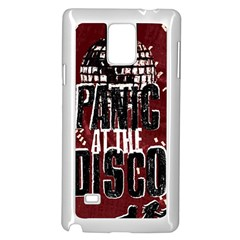 Panic At The Disco Poster Samsung Galaxy Note 4 Case (white) by Onesevenart