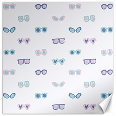Cute Sexy Funny Sunglasses Kids Pink Blue Canvas 12  X 12   by Mariart