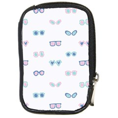 Cute Sexy Funny Sunglasses Kids Pink Blue Compact Camera Cases by Mariart