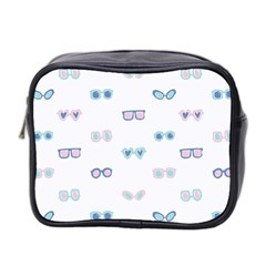 Cute Sexy Funny Sunglasses Kids Pink Blue Mini Toiletries Bag 2 Side by Mariart