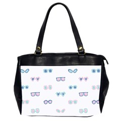 Cute Sexy Funny Sunglasses Kids Pink Blue Office Handbags (2 Sides)  by Mariart