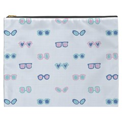 Cute Sexy Funny Sunglasses Kids Pink Blue Cosmetic Bag (xxxl)  by Mariart