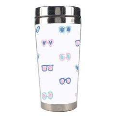 Cute Sexy Funny Sunglasses Kids Pink Blue Stainless Steel Travel Tumblers by Mariart