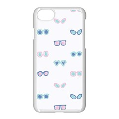Cute Sexy Funny Sunglasses Kids Pink Blue Apple Iphone 7 Seamless Case (white) by Mariart