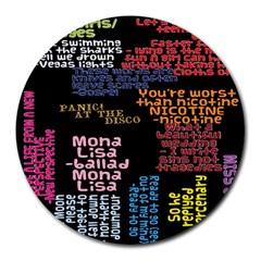 Panic At The Disco Northern Downpour Lyrics Metrolyrics Round Mousepads by Onesevenart