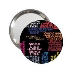 Panic At The Disco Northern Downpour Lyrics Metrolyrics 2 25  Handbag Mirrors by Onesevenart